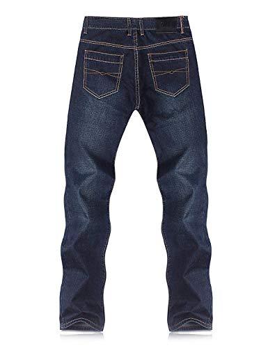 Casuali Denim Degli Del Stile Pantaloni Dunkelblau Allentati Serie 809 Di Jeans Uomini Ssig Diritti Retro Semplice Oversize YxHZzH