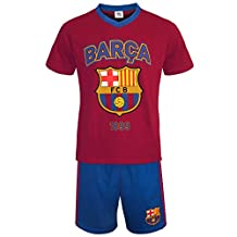 FC Barcelona Official Soccer Gift Mens Loungewear Short Pajamas Small