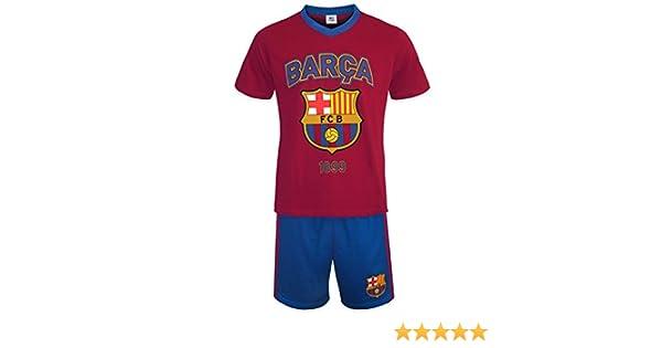 FC Barcelona - Pijama corto para hombre - Producto oficial: Amazon.es: Ropa y accesorios