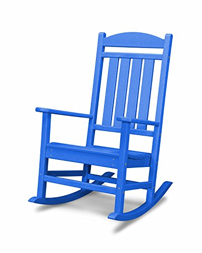 POLYWOOD R100PB Presidential Outdoor Rocking Chair, Pacific Blue
