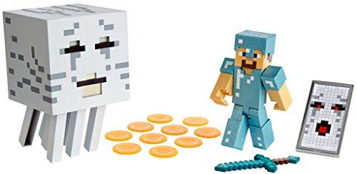 Mattel Minecraft Steve with Ghast Figure]()
