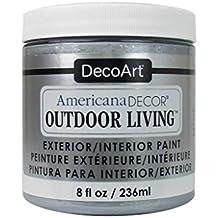 Decoart DECADOL-36.28 Outdoor Living Metallcs8ozSlvr Americana Outdoor Living Metallics 8Ozslvr