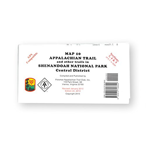 Official Shenandoah National Park, Virginia, Appalachian Trail Map (Central District) by Appalachian Trail Conservancy