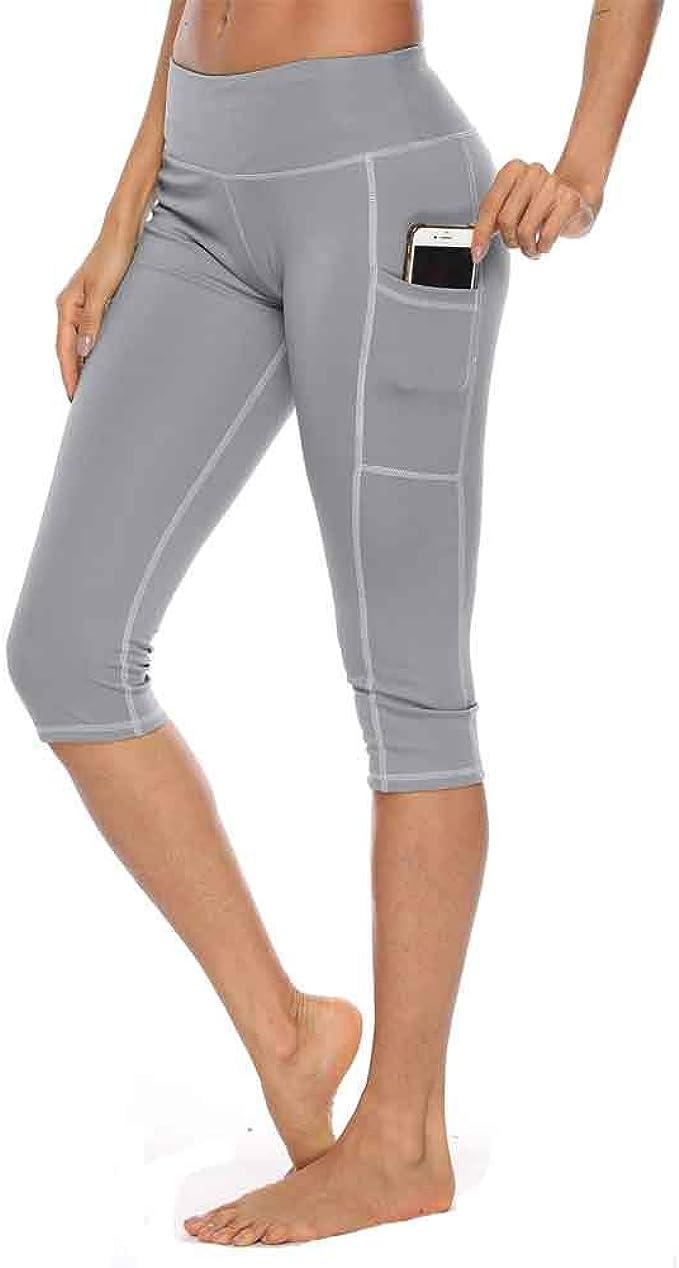 RISTHY Leggings Mujer 3/4 Pantalones de Yoga Deportivas Leggins ...