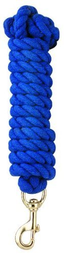 Perri's Heavy Duty Cotton Lead with Snap, Royal Blue, 10-Feet