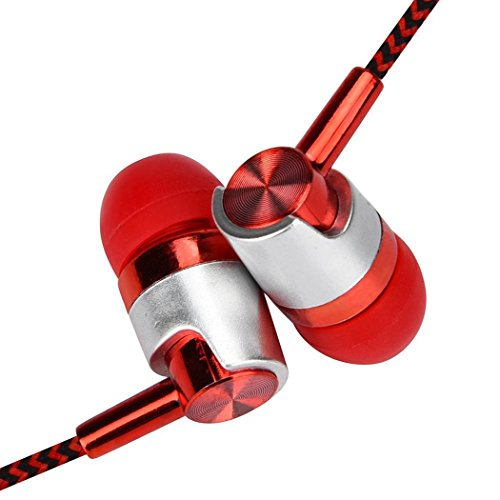 HOTLISTA 3.5mm Wired Stereo Earphone in-Ear Headphones with Microphone for Phone/ MP3