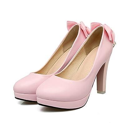 0c836f4f7d627 QIN X Bloc de Femmes Peu Profondes Bouche Talons Hauts Chaussures de Mariage  Partie Cour,Pompes