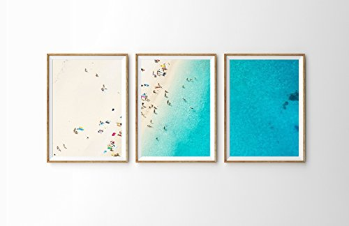 Mediterranean Dreams - 3-Piece Set Large Bondi Beach Aerial