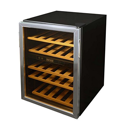 Dual Zone Thermostat - Soleus Air WKD5 Dual Zone Wine Cooler, Maximum Capacity of 37 Wine Bottles, Dual Zone Cooling, Reversible Glass Door, 5 Wooden Shelfs With Adjustable Legs, Digital Display Thermostat, Black Description change to:Soleus Air WKD5 Dual Zone Wine Cooler, Maximum Capacity of 37 Wine Bottles, Dual Zone Cooling, Reversible Glass Door, 5 Wooden Shelfs With Adjustable Legs, Digital Display Thermostat, Black