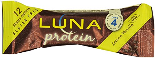 Luna Protein Bar Nutrition, citron vanille, 1,59 oz -Barres (Pack de 12)