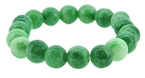 Art Bead Bracelet (Antiquity Sian Art Tibetan 12mm Jade Prayer Beads, Buddhist Wrist Mala Prayer)
