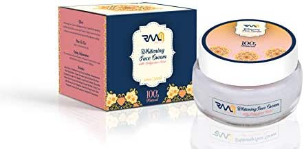 Whitening Face Cream - with Bulgarian Rose | Skin Brightening & Anti Aging | Removes Dark Spots & Freckles | 100% Natural | 50 ml - by RAAM