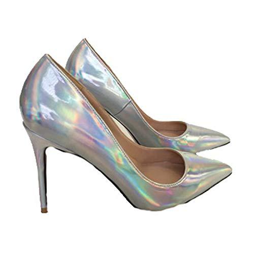 Dmoshibei 2018 Fashion Spring Wind Elegant Heel Ladies Pumps New Pointed Toe high-Heeled Wedding Women Shoes Office Women Pumps as pic 5