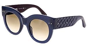 BOTTEGA VENETA INTRECCIATO Leather BV0008S Navy Blue Brown Sunglasses 0008