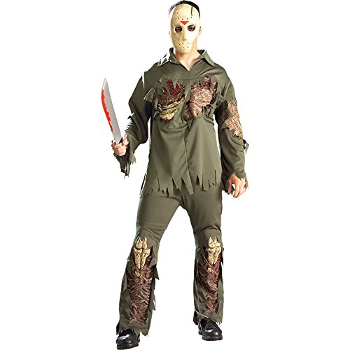 rubies mens friday the 13th super deluxe jason as shown standard