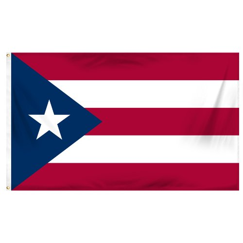 Online Stores Puerto Rico Printed Polyester Flag, 3 by 5-Fee