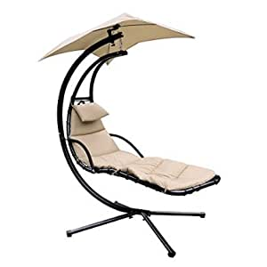 Amazon Com F2c Chaise Lounger Hanging Chair Arc Stand