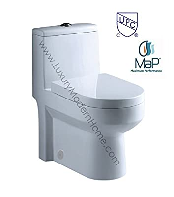 "toilet GALBA 24.5"" 24"" 25"" Inch SMALL TOILET One Piece 24 25 Cupc UPC Short Compact Bathroom Tiny Mini Commode Water Closet Dual Flush Short Projection Shortest Adult CSA upc elongated"