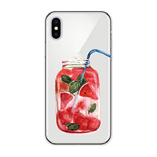 Summer Fresh Cocktail Strawberries Orange Lime Jar Soft Phone Case for iPhone 6S 7P 5 8 8Plus X Xs Max for Samsung,2,for Samsung S7 Edge ()