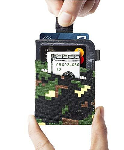 - Minimalist Slim Wallet- Front Pocket Credit Card Holder with Cash & Key