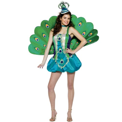 Peacock Teen Costumes (Rasta Imposta Peacock, Multi, Teen 13-16)