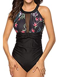 FITTOO Bikini Mono Mujer con Acolchado Bra Trajes de baño una Pieza Color Vario con Talla Grande