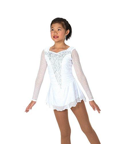 (Jerry's Ice Skating Dress - 168 Snow Swept Dress (White, Size 6-8))