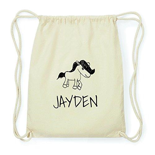 JOllipets JAYDEN Hipster Turnbeutel Tasche Rucksack aus Baumwolle Design: Pony 8P7WND