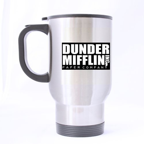 Large Mugs Popular (Popular Dunder Mifflin Theme - 100% Stainless Steel Material Travel Mugs - 14oz sizes)