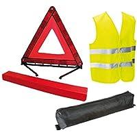 Kit gilet jaune et triangle de signalisation - Norme CE