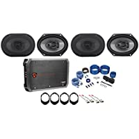1999-2004 Ford F-250/350/450/550 Rockville 6x8 Speaker Replacement Kit+4-Ch Amp