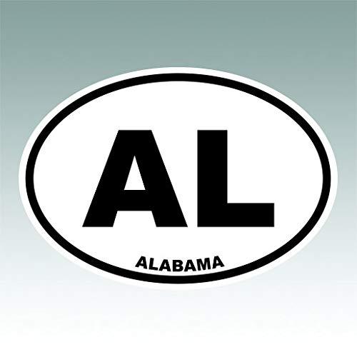 RDW Alabama State Oval Sticker Premium Decal Die Cut AL Alabama Oval Sticker Decal