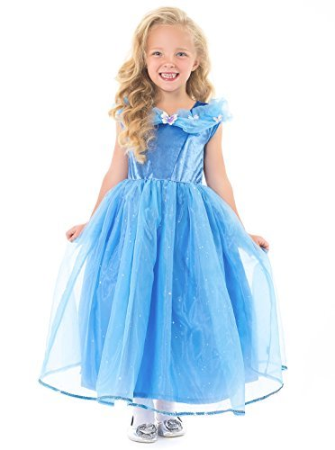 Little Adventures Deluxe Cinderella Butterfly Princess Dress Up Costume Size Medium Age 3-5
