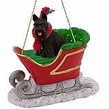 Scottish Terrier Sleigh Ride Christmas Ornament - DELIGHTFUL!