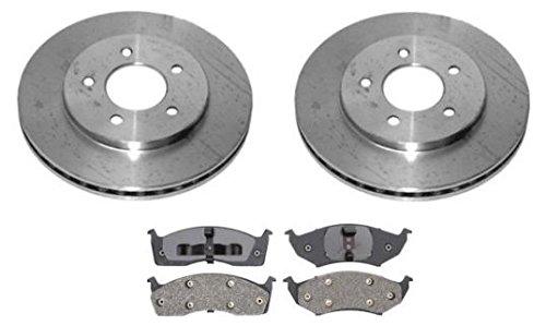 - Front Brake Pad Pair & Rotors Set Kit LH & RH for Voyager Grand Caravan