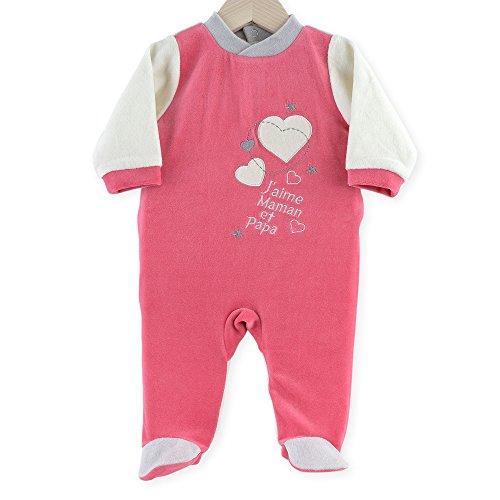 5a2c8553c5cf1 Kinousses Pyjama pour Fille 23 Mois (86 cm) Rose Motif J Aime Maman   Papa   Amazon.fr  Bébés   Puériculture