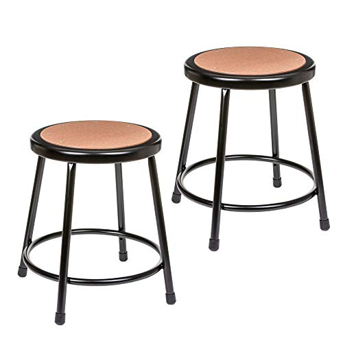 (2 Pack) OEF Furnishings Black Shop Stool, 18