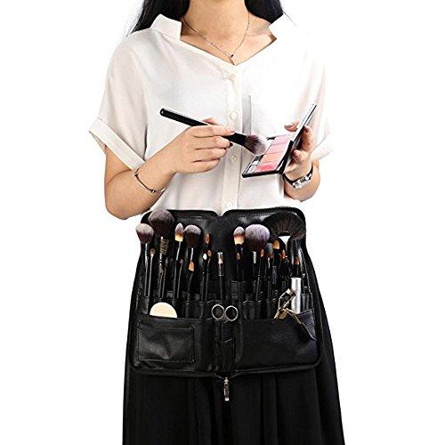 WasonD 32 Pockets Cosmetic Makeup Brush Organizer Belt Bag with Artist Strap + 2 Washing Brush Scrubber by WasonD (Image #5)