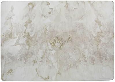 CREATIVE TOPS Juego de 6 manteles Individuales, Parte Posterior de Corcho, diseño de vinos, Gris, Blanco, Large Placemats
