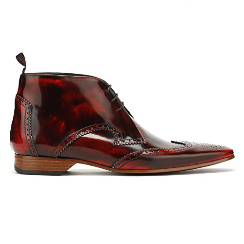 Jeffery West Mens College Rosso Escobar Scarpe Chukka Brogue