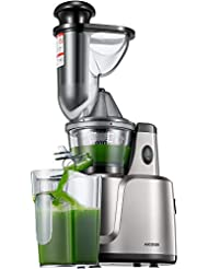 Juicer, Aicook Slow Masticating Juicer, 3 In 1 Cold Press Juicer for Fruits, Vegetables, Baby Food & Smoothies, Extremely Quiet Juice Extractor, Ease to Clean, with Reverse Function & Non-Slip Feet