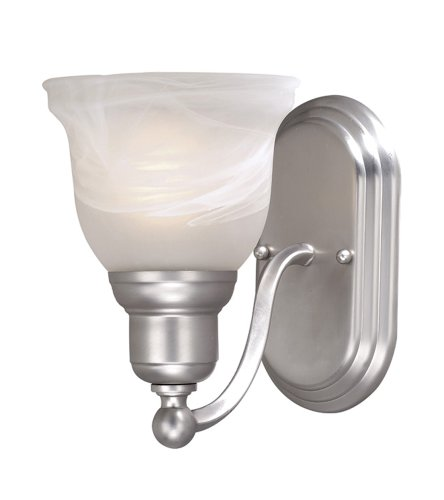 Vaxcel LS-VLU101BN Lasalle 1 Light Vanity Light, Brushed Nickel Finish
