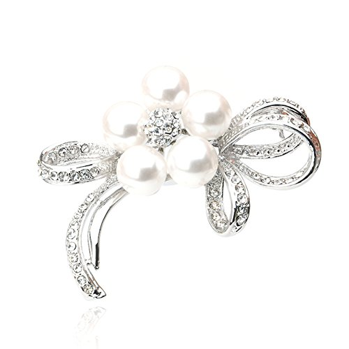 The Korean version of the Pearl rhinestone brooch/ corsage/[pin]/ shoulder-buckle-A (Shoulder Corsage)