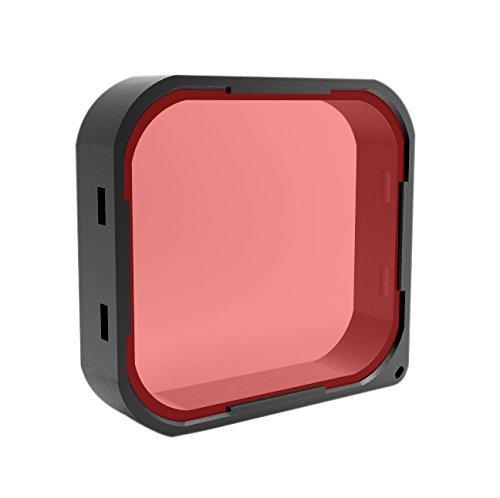 Freewell Red Camera Lens Filter for GoPro Hero5 Black & Hero6 Black Underwater Lens