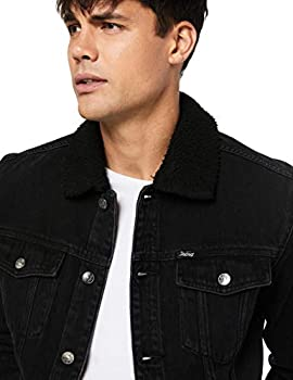 Men's Riders by Lee Denim Sherpa Jacket BEAT BLACK