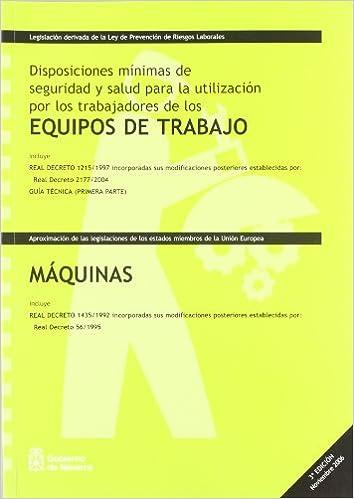 Equipos de trabajo / maquinas - disposiciones minimas de