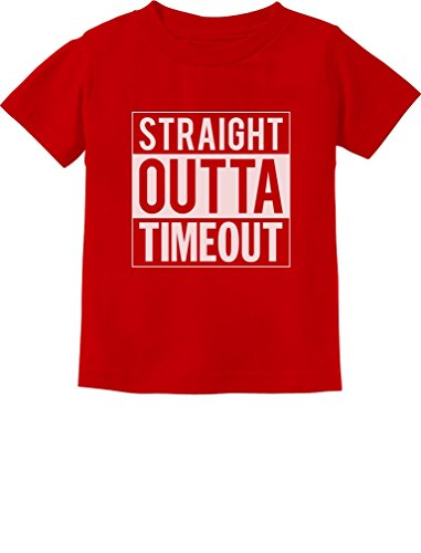 TeeStars - Straight Outta Timeout Funny Toddler/Infant Kids T-Shirt 2T Red ()