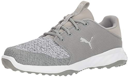PUMA Golf Men's Grip Fusion Sport Golf Shoe, Limestone-Gray Violet, 11.5 M US