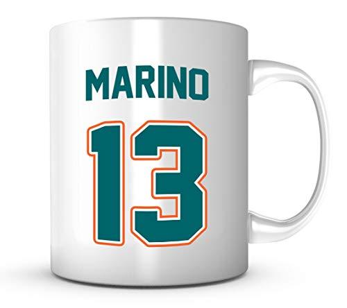 Dan Marino Mug - Jersey Number Football Coffee Cup ()