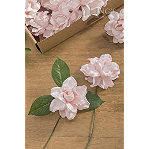 Ling's moment Artificial Gardenia Flowers w/Stem for DIY Wedding Bouquets Centerpieces Arrangements Party Baby Shower Home Decorations 10